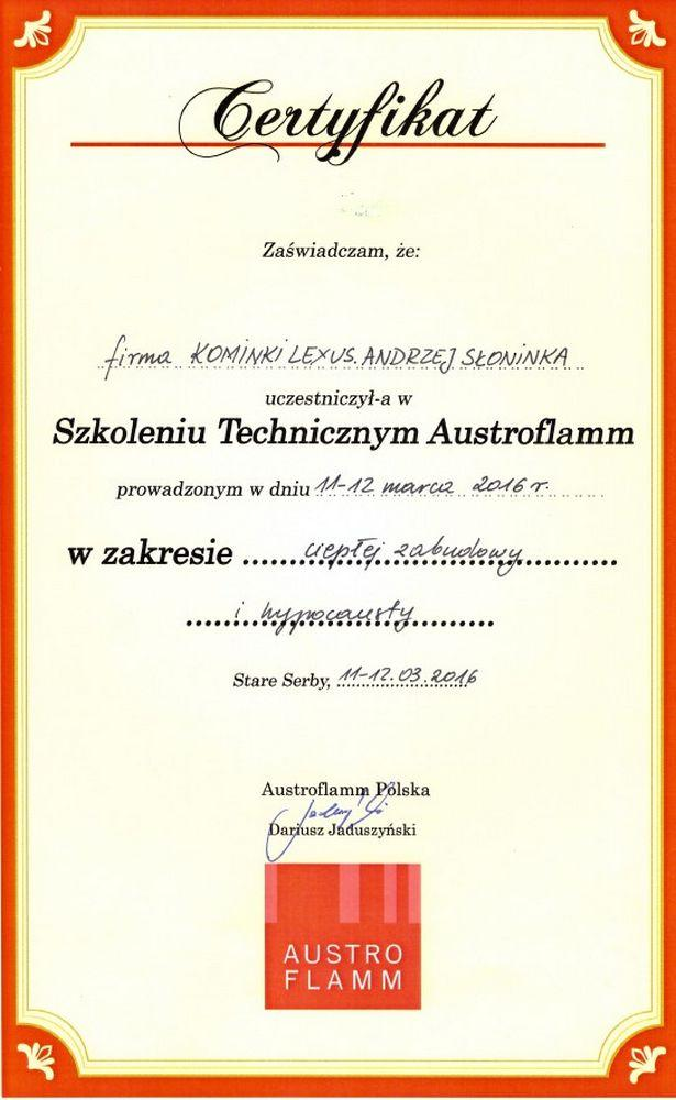 austroflamm-certyfikat